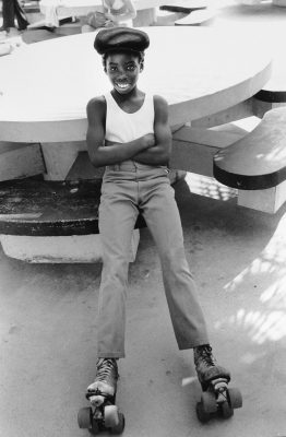 ROLLER SKATER VENICE CA 1983