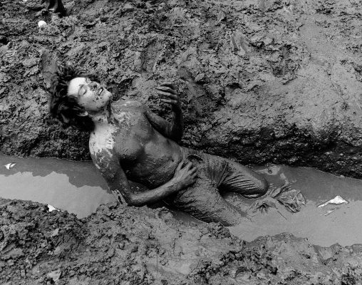 Fan in the mud Coventry 1980